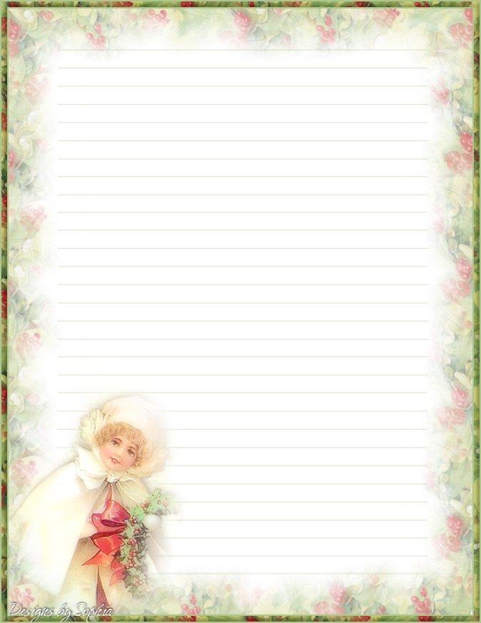 My printable stationary Creations 3 - Sophia Designs PenPal Stationery
