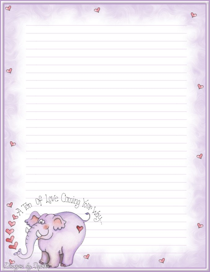 valentine writing paper printable